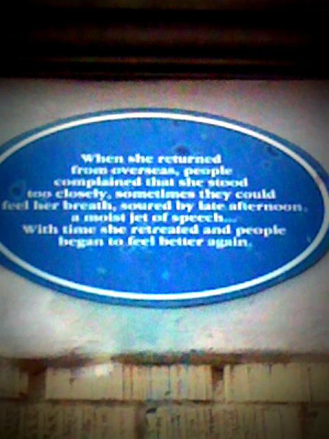 poetry plaque on Keefer street