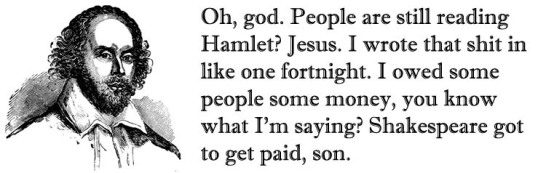 Shakespeare got to get paid