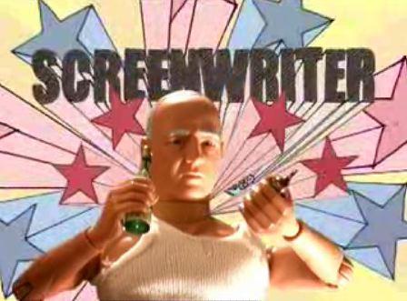Screenwriter, action hero