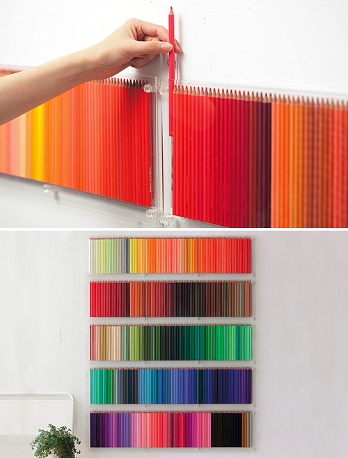 pencil crayon wall hanging